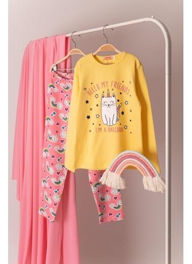 Zeyland Kedi Baskılı Pijama Takımı (5-12yaş) Kedi Baskılı Pijama Takımı (5-12yaş) Sarı